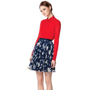 JASON WU For TARGET NWT Knife PLEATED Floral Skirt